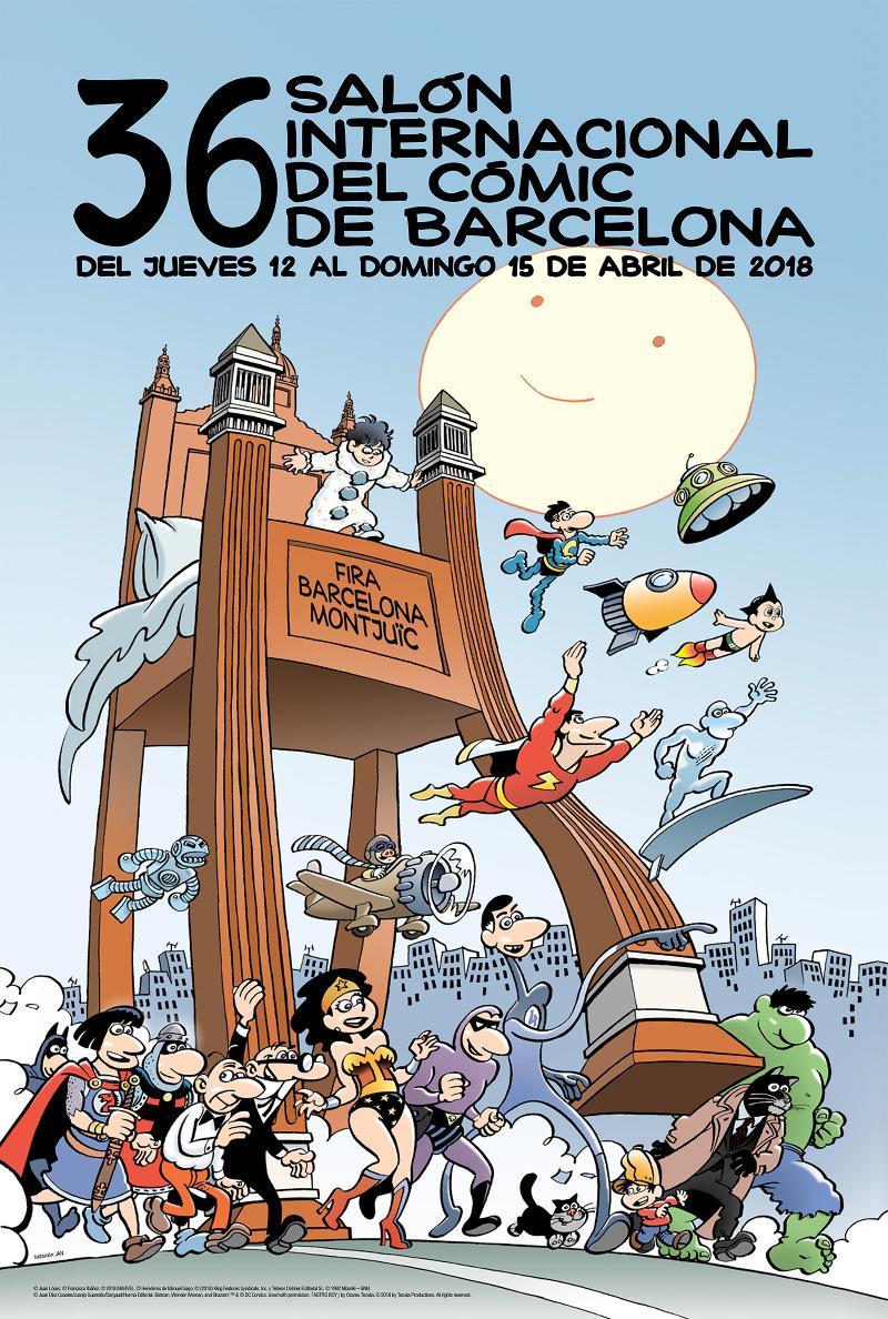 Cartel Salón Cómic Barcelona 2018